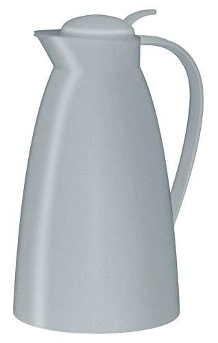 alfi Thermoskanne Eco, Kunststoff grau 1l, mit alfiDur Glaseinsatz, 0825.297.100, Isolierkanne hält 12 Stunden heiß, ideal als Kaffeekanne oder Teekanne, Kanne für 8 Tassen