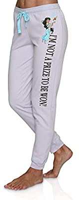 Disney Princess Themed Women's Jogger Lounge Sweat Pants, Jasmine, Size 4X Plus by
