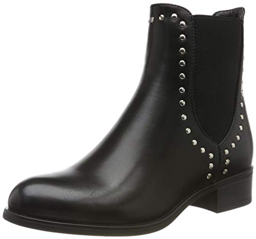 PIECES Damen PSHARPER Boot Stiefeletten, Schwarz (Black AOP: with Studs), 37 EU