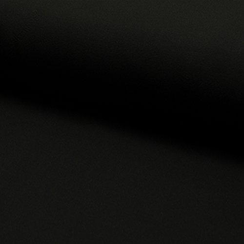 Selfkant Stoffe Jersey, Baumwolljersey Uni ab 50cm (Grundpreis: 9,00€ / Meter) - Schwarz