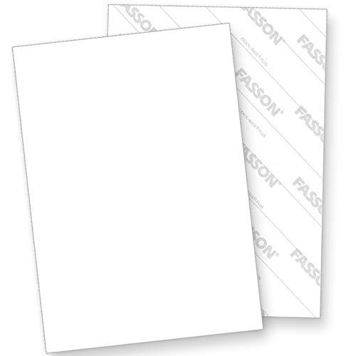 Aufkleber selbstklebend A4 (100 Blatt) weiß matt, Rückseite geschlitzt (Crack-Back) zum Einfachen ablösen, für Laser- und Inkjetdrucker geeignet, Hight Quality