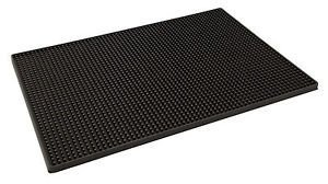 Bar Mat rubbermat voor glazen - bar mat 45 x 30 cm zwart B009