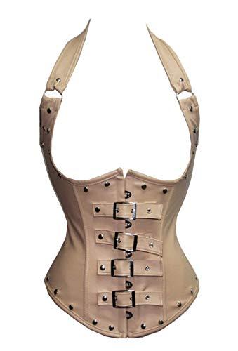 Pu leren houder Corsage dames 2018 klassiek vintage korset Steampunk Fashionable Gothic Waist Training Body Shaper Shapewear Bustier niet inbegrepen Rok