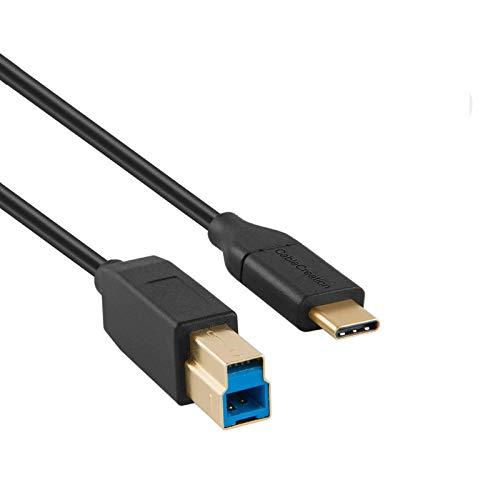 USB C to USB,CableCreation USB 3.1 GEN2 Type C (USB-C) to USB 3.0 B オス ケーブル C B変換ケーブル US...