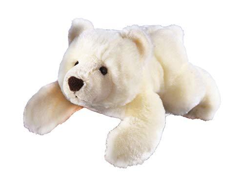 GLOREX 0 4513-1 - Kuscheltier zum Selberstopfen Eisbär Sven, ca. 28 cm groß, aus hochwertigem Plüsch genäht, muss nur noch befüllt werden, mit Geburtsurkunde