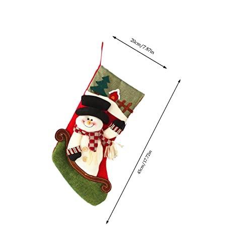 Qiyanzz Calze natalizie, sacchetti regalo, grandi calze natalizie, ornamenti natalizi, calze decorative, calze natalizie, sacchetti regalo, sorprese