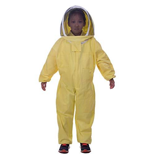 HunterBee Imkereianzug für Kinder, Ganzkörper-Schutz, Baumwolle, selbststützend, 140 cm