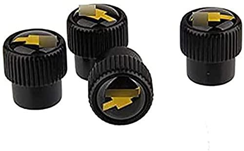 4 Piezas Neumáticos Tapas Válvulas para Chevrolet Cruze Captiva Orlando, Antipolvo Tapones de Coche Decoración Accesorios