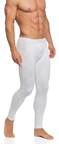 Ladeheid Herren Funktionsunterwäsche Lange Unterhose thermoaktiv05 15 (Weiß, L/XL)