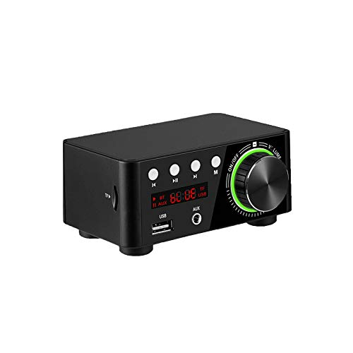 100W Mini Hi-Fi Bluetooth Audio Component Amplifiers 5.0 Power Music Player Stereo Receiver 2.0 Channel Wireless Receiver Class D Amp.(Power Adapter is Included)