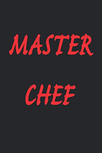 Master chef 2021 weekly planner notebook journal gift