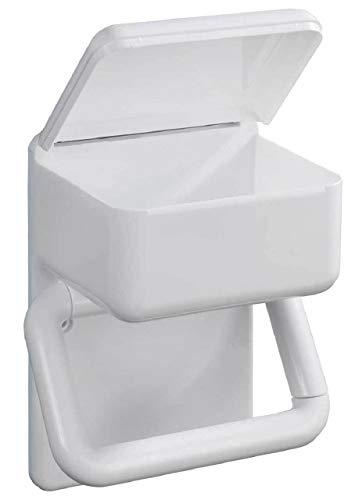 SIDCO WC Papierhalter mit Feuchtpapierbox Toilettenpapierhalter Feuchttuch Box Ablage