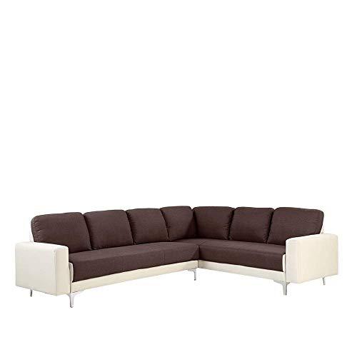 B.H.D Edwige–Divano angolare XL Moderno–Tessuto–Bicolore 2Toni–205x 183x 78