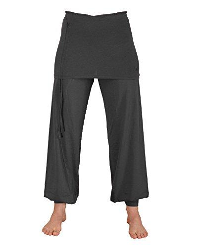 ZAMKARA Damen Yogapant Jaipur, Bio-Baumwolle, Anthrazit, S