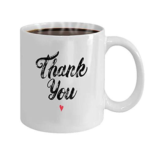 Madres,padres,hijos,hijas,regalos,té,café,vino,taza,100%cerámica,11onzas,blanco,taza,gracias,mano,escrito,caligrafía,con,corazón,cepillo,pluma,letras,aislado,blanco,planode