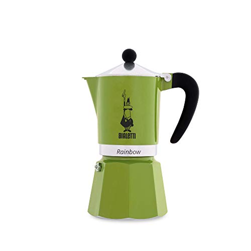 Bialetti Rainbow Espressokocher, Aluminium, Grün, 6 Tassen