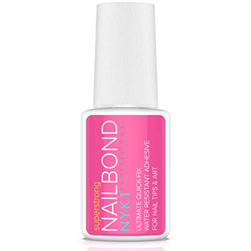 Super Strong Nail Glue for Acrylic Nails and Press on Nails - NYK1 Nail Bond Acrylic Nail Glue Adhesive, Perfect for False Acrylic Nail Art, Glitter, Diamantes, Gems, White Clear Tip Applications