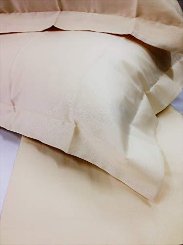 Juego de Funda nórdica (satén de algodón Puro 100% Variante (Marfil) Saco cm....