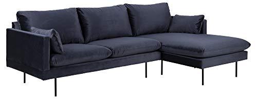 PKline Ecksofa Sulli blau Polstersofa Polstergarnitur Couch Garnitur Eckcouch Ottomane