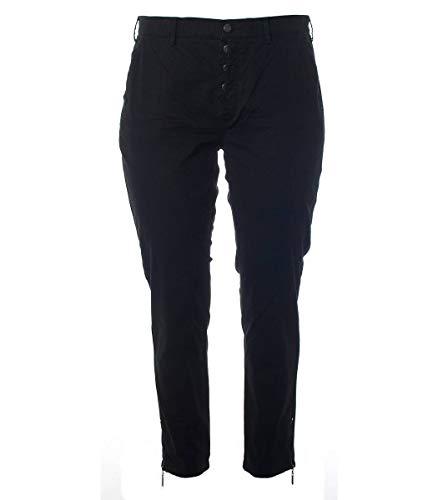No Secret Chino Jeans Hosen Damen großen Größen Marken Sommer Hose kurz-Größe Knöpfe, Größe:48, Farbe:Schwarz