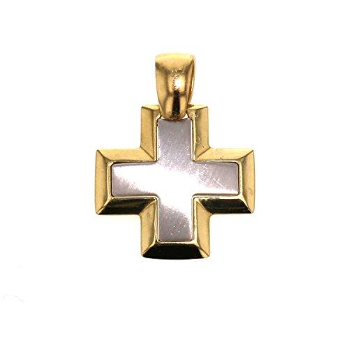 Gouden hanger Glad Wit Goud Geel Goud Kruis 585 Goud Hanger Ketting Hanger 14 Karaat Sieraden 244
