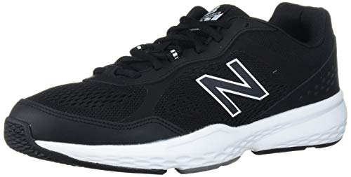 New Balance Men's 517 V2 Cross Trainer, Black/White, 8.5 XW US