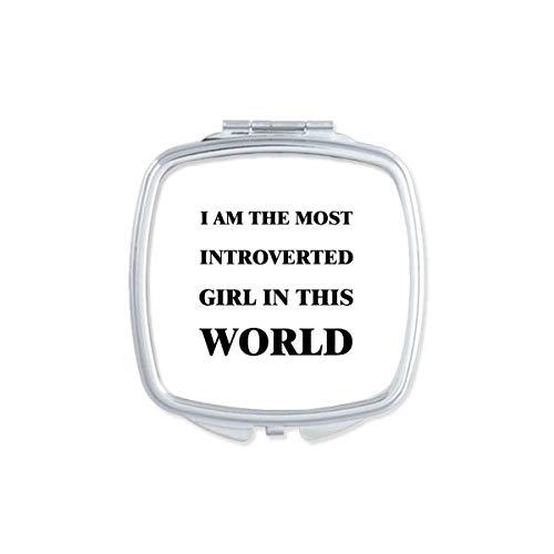 DIYthinker Je suis Le Maquillage Compact Fille introvertie Miroir carré Portable Mignon de Cadeau Miroirs de Poche à la Main Multicolor