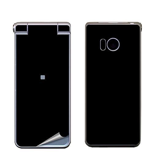 Decopro AQUOS ケータイ SH-N01 スキンシール デコシート 携帯保護シール 気泡レス ブラック(シングルカラーサンド柄)