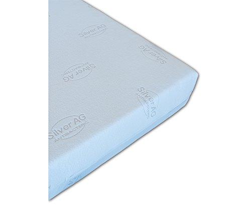 Vivere Zen - Materasso Memory Gel 18,5 Medio - Misura 160x190 cm - Rivestimento A: Silver Antibatterico Stretch (Non Imbottito) - Lavatrice a 60°
