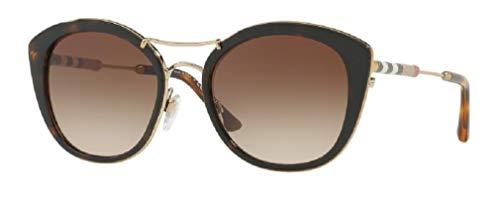 Burberry BE4251Q 300213 53M Dark Havana/Brown Gradient Round Sunglasses For Women+FREE Complimentary Eyewear Care Kit