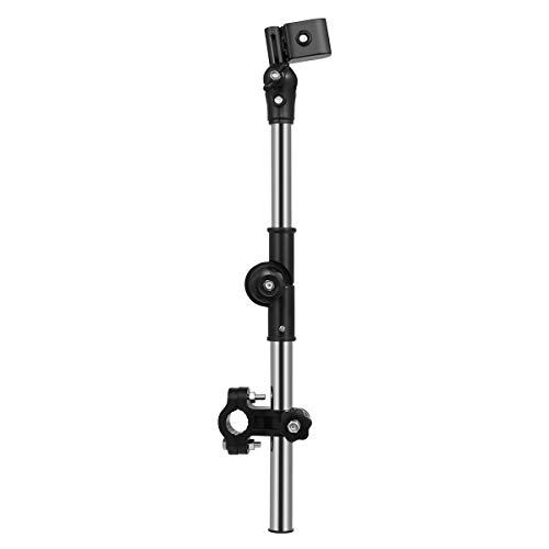 OUNONA Umbrella Mount Stand Adjustable Outdoor Umbrella Holder for Bike Electric Bicycle Stroller Wheel Chair (Black)