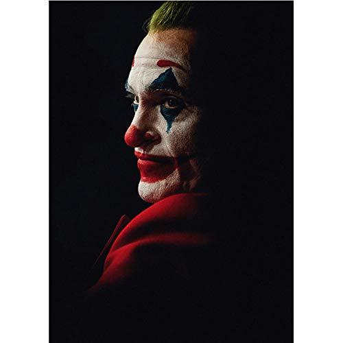 Joker Cool Retro Película Poster Vintage HD Impresiones Inicio Sala Bar Pared Decoracion Cuadro Joker Arte Pinturas Lienzo Dormitorio Hogar Decoracion 50x75cm / Sin Marco-2