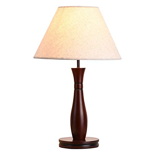 I-vormige Tafellamp, E27 Handmade Doek Tafellamp, Painted Bamboo Art Table Lamp, Slaapkamer Student Leestafel Lamp/Brown
