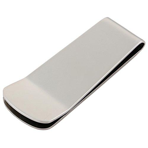 DonDon Clip del Dinero Pinzas para Billetes de Acero Inoxidable y de Color Plata para Hombres