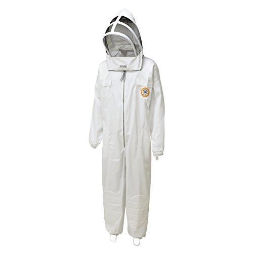 Bee Proof Suits Imker-Anzug aus Baumwolle und Polyester, mit Kapuze BPS3Beekeeping gesamte Rückseite medium bianco