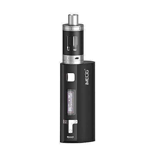 IMECIG® Q5 Sigaretta Elettronica, 80W Box Mod Vaporizzatore, Potenza Enorme con Serbatoio di 0.5 Ohm Resistenza, Temperatura controllatoa, Include Batteria 18650, Senza Nicotina, Nero