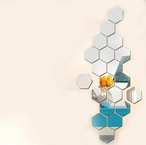 Hexagonal Spiegel Acryl Test-Kosmetikspiegel Dreidimensionale Wand Paste Wohnzimmer Xuanguan Net Rote Dekoration 50 X 100Cm