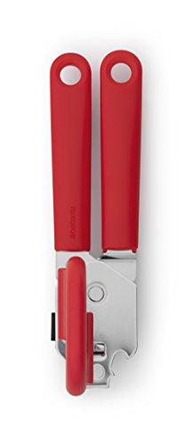 Brabantia 106309 Ouvre-boîte avec Poignée Acier Inoxydable/Plastique Rouge 20 x 15 x 15 cm