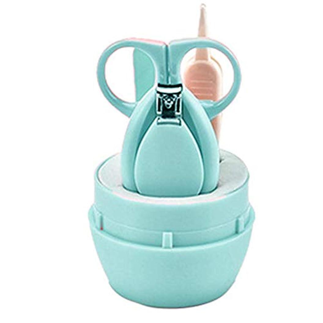 細心のご意見ロールPANGUN 赤ちゃんの爪切りステンレス鋼爪のはさみ爪切りのスーツの子供の安全の爪切り4セット-グリーン