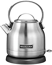 KitchenAid KEK1222SX 1.25-Liter Electric Kettle - Brushed Stainless Steel,Small