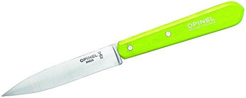 Opinel Uni Küchenmesser No. 112, Rostfreier Sandvik-Stahl, Hellgrüner Buchenholzgriff Kochmesser, Mehrfarbig, Einheitsgröße