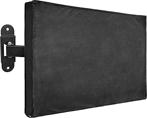 Cubierta de TV impermeable para exteriores, cubierta de muebles a prueba de polvo, se adapta a la mayoría de los soportes de tela para televisores de pantalla plana, 22 a 75 pulgadas