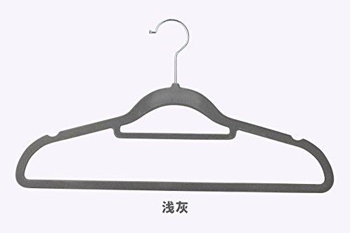 SQYJ Japanischen Stil Rutschfeste Beflockung Kleiderbügel, Keine Spur von Kleidung, Haushalt Kleidung, 42 cm Kleiderschrank, 10 Kleiderschrank, Samt unterstützen, 10,38 cm Eleganter Asche