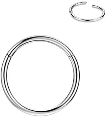 18g 6mm Cartilage Earring Small Hoop Nose Rings 18 Gauge Silver Nose Ring Hoop Tragus Earring product image