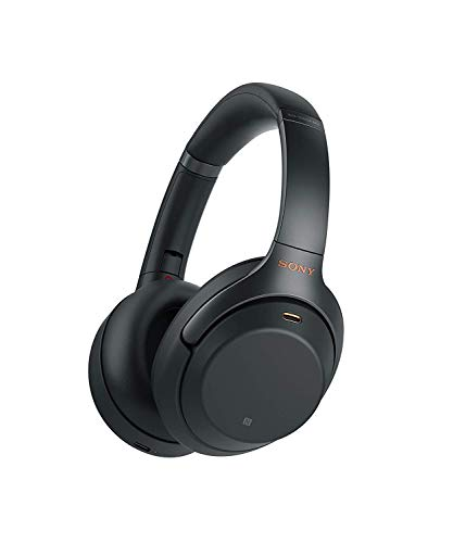 Sony WH-1000XM3 Noise Cancelling Wireless Headphones with Mic, 30 Hours Battery Life, Quick Charge, Gesture Control, Ambient Sound Mode, with Alexa Built-in – Black