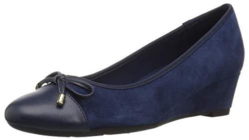 Easy Spirit Zapatos de tacón Prim para Mujer, Color Azul, Talla 12 W EU