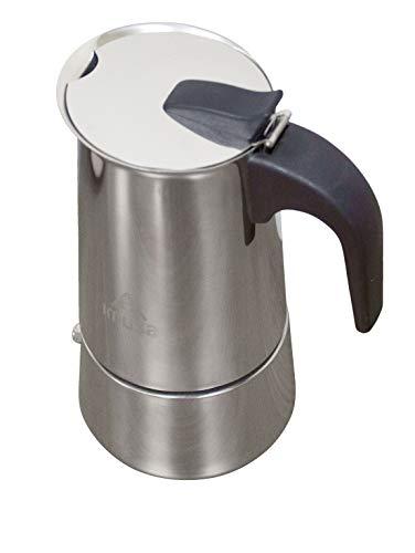 IMUSA USA B120-22061M - Cafetera espresso de acero inoxidable, 4 tazas, color plateado