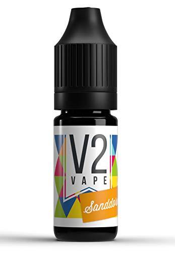 V2 Vape Sanddorn AROMA / KONZENTRAT hochdosiertes Premium Lebensmittel-Aroma zum selber mischen von E-Liquid / Liquid-Base für E-Zigarette und E-Shisha 10ml 0mg nikotinfrei