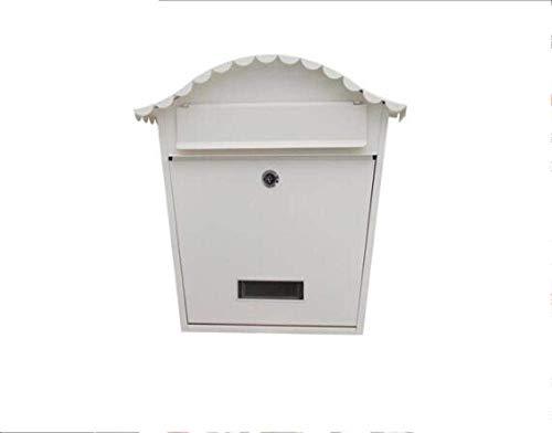 Bericht Brievenbus for Mailbox Antraciet wand gemonteerde cilinderslot Classic Premium Mailbox-White_