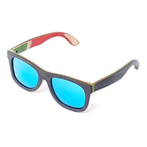 Bonizetti Herren-Holz-Sonnenbrille San Marino UV 400 143mm